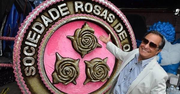 Mão na massa! Ronnie Von visita barracão da Rosas de Ouro e é ...
