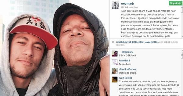 Neymar desobedece pai e fala pela primeira vez sobre polêmica da ...