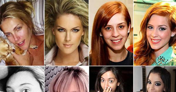 Sem glamour! Confira fotos das celebridades sem maquiagem ...