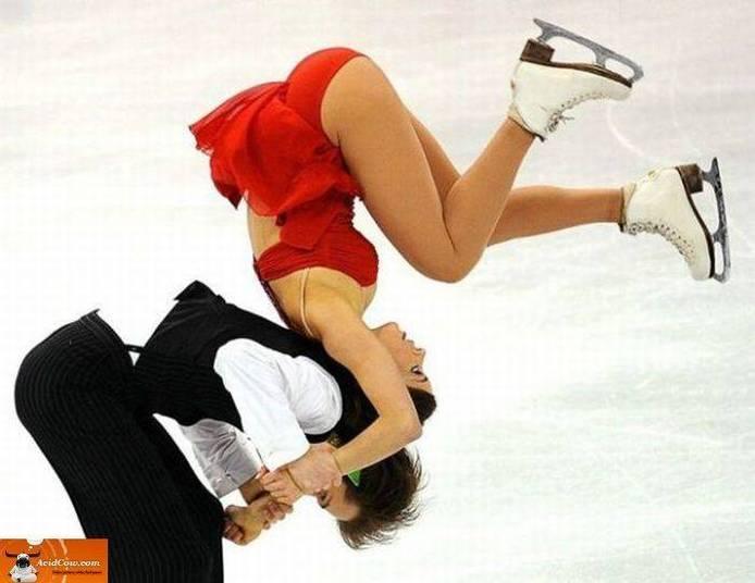 Se cair de costas no gelo, é ippon!