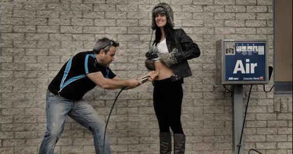 Homem coloca mulher grávida na borracharia; Veja o que acontece ...