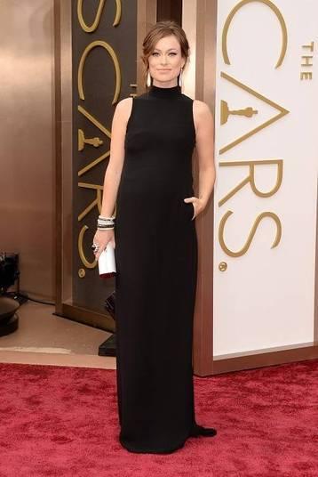 A grávida Olivia Wilde
