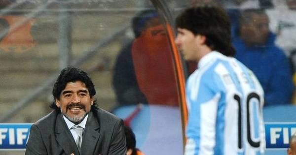 Maradona exalta Messi e diz que Neymar está ilhado no Brasil ...