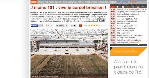 Sem papas na língua, revista francesa esculacha Copa no Brasil ...
