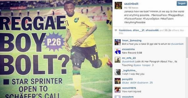 Usain Bolt pode jogar futebol pela seleção da Jamaica - Esportes ...