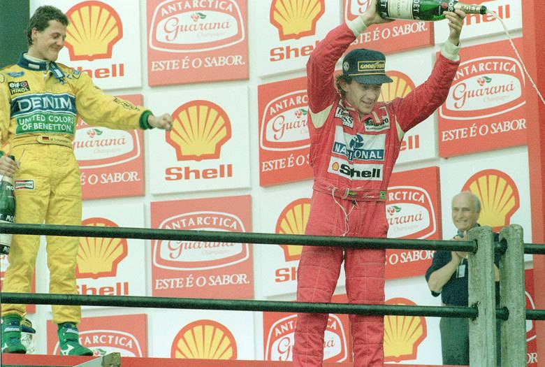 Ayrton Senna conquistou em 1993 sua segunda vitória no GP do Brasil