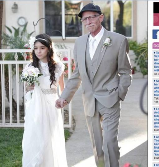 Com câncer terminal e à beira da morte, Jim Zetz, de 62 anos, simulou um casamento para que sua filha, Josie Zetz, de 11 anos, pudesse entrar com ele na igreja. As informações são do site Daily Mail