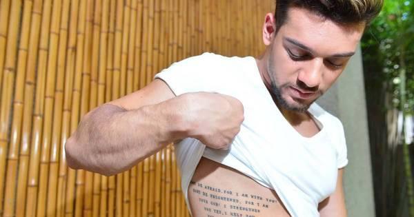 Desvende as tatuagens de Lucas Lucco. O R7 te conta o significado ...