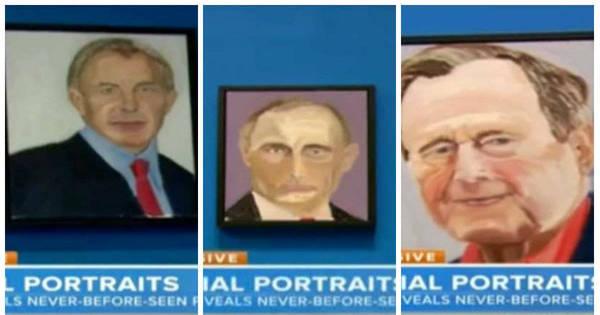 Revelada a paixão de George W. Bush: pintar retratos de líderes ...