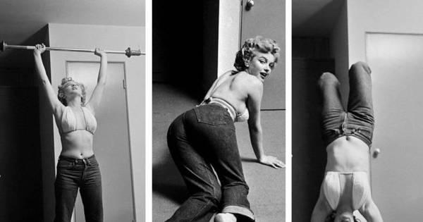 Nos anos 1950, Marilyn Monroe malhava de calça jeans; veja os ...