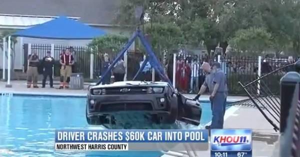 Vídeo: motorista barbeiro joga Chevrolet Camaro dentro de piscina ...