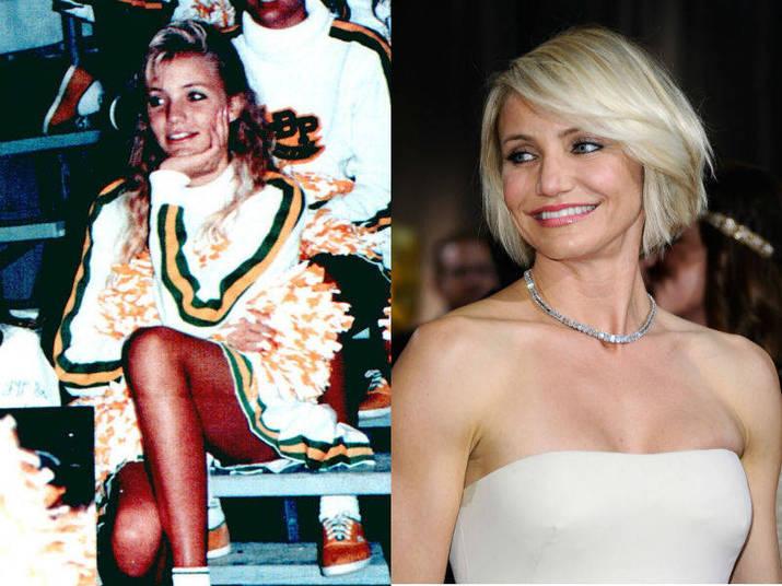 Badaladíssima em Hollywood, Cameron Diaz também já se aventurou como torcedora em sua adolescência
