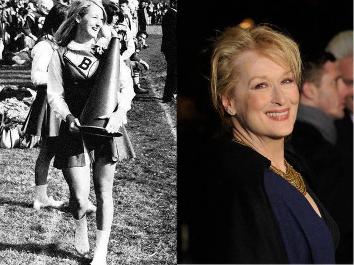E o que dizer de Meryl Streep, com toda sua pinta de intelectual? Sim, ela também já foi cheerleader