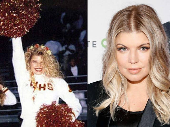 Ex-'The Black Eyed Peas', a cantora Fergie não escondia a empolgação, com direito a pompons para o alto