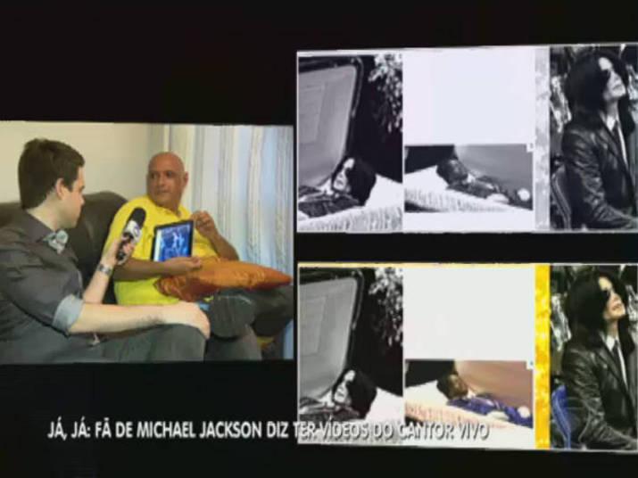 Em uma suposta foto de Michael Jackson dentro do caixão feita apenas para familiares e alguns fãs, o jornalista afirmou que teve outra montagem e que foi usada uma foto dele sentado no mesmo caixão em que foi enterrado James Brown. Será?Qual a sua opinião sobre a morte de Michael Jackson? Clique aqui e responda!Assista ao vídeo e confira toda a reportagem com o jornalista no palco do Balanço Geral!
