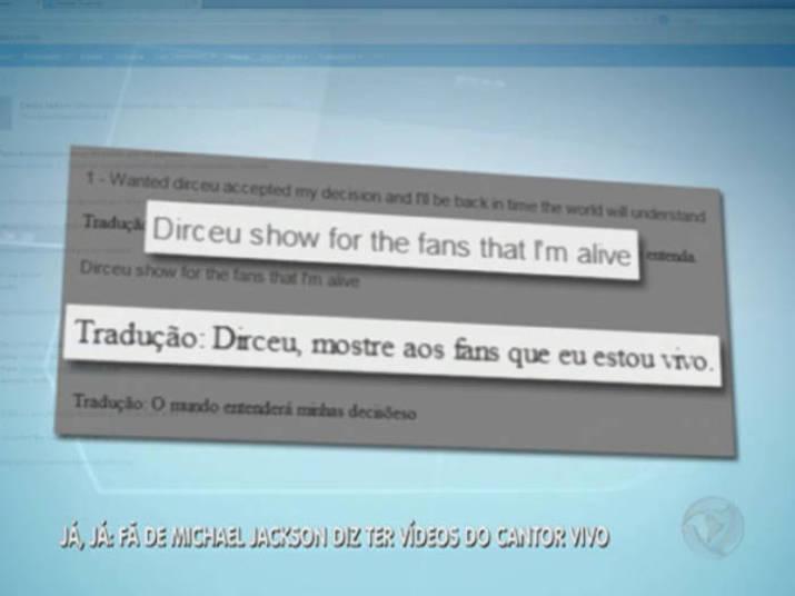 Esse é o suposto email que mostra a conversa entre Dirceu e Michael anos depois da morte do músicoQual a sua opinião sobre a morte de Michael Jackson? Clique aqui e responda!Assista ao vídeo e confira toda a reportagem com o jornalista no palco do Balanço Geral!