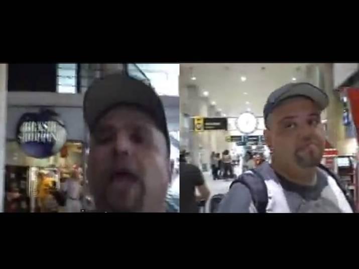 João GordoO apresentador ficou nervoso quando um homem que o filmava começou a xingá-lo quando ele não respondeu suas perguntas. João agrediu o cinegrafista, que gravou tudo