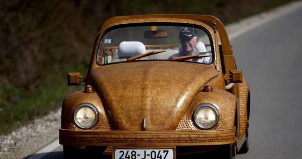 Idoso constrói Volkswagen Fusca de madeira a mão - Fotos - R7 ...