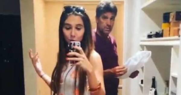 """Carol Portaluppi """"aluga"""" o pai Renato Gaúcho em vídeo hilário ..."""