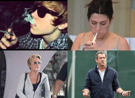 Relembre as celebridades que não escaparam do vício do cigarro
