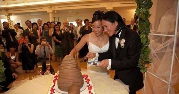 É divórcio na certa! Noivos apostam em bolos bizarros para o ...
