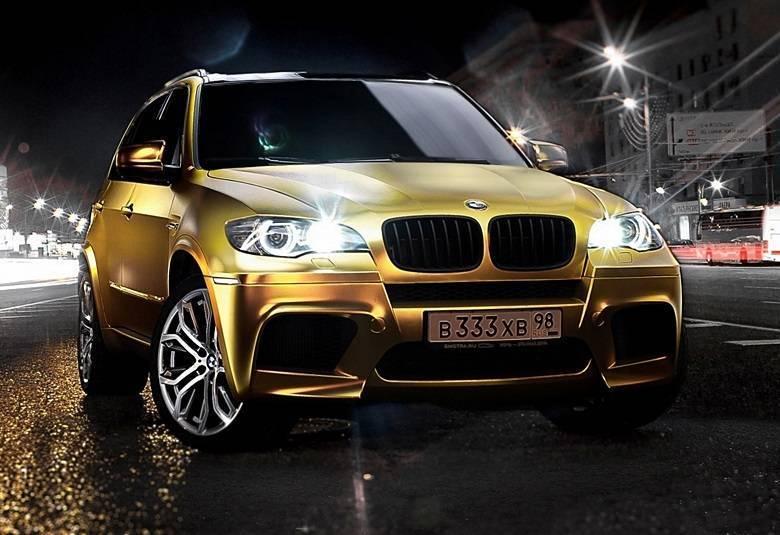 Para este BMW X5M, tudo que reluz é ouroSaiba tudo sobre carros! Acessewww.r7.com/carros