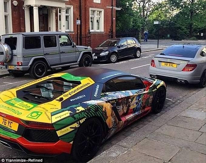 Este Lamborghini Aventador foi inspirado na Copa do Mundo Fifa 2014. Mas o resultado...Saiba tudo sobre carros! Acessewww.r7.com/carros