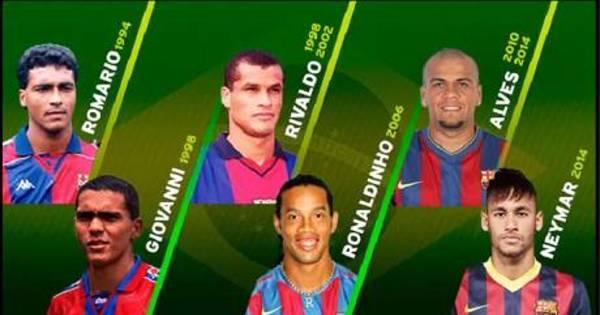 Só craques: Barça homenageia brasileiros do clube que jogaram ...