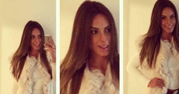 Nicole Bahls escolhe look comportado para enfrentar o frio ...