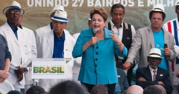 Com samba e protesto, Dilma Rousseff inaugura Transcarioca ...