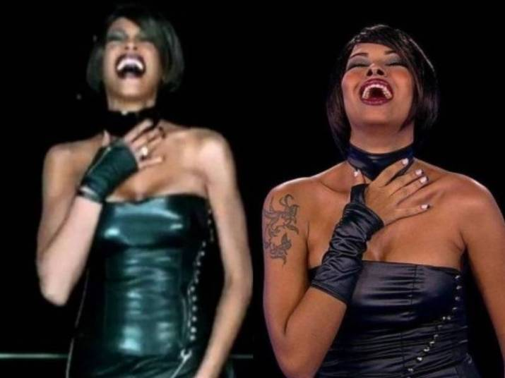 Ariadna como Whitney Houston A ex-BBB se transformou na cantora de voz forte e até imitou com perfeição os movimentos dela no clipe de It's Alright but it's not ok