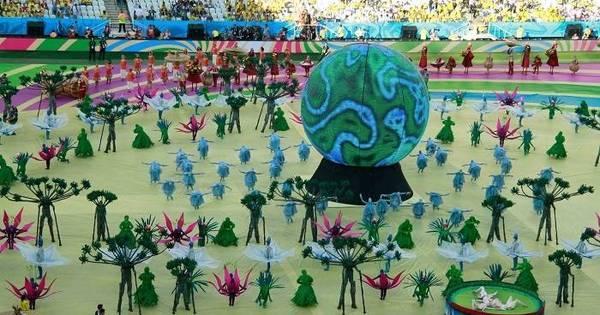 Cerimônia de abertura da Copa do Mundo na Arena Corinthians foi ...