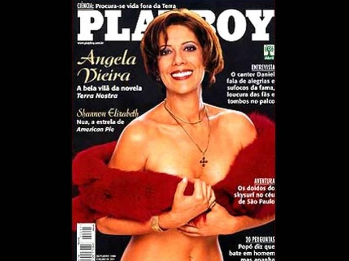 Ângela Vieira (1999) Na época, a atriz ganhou destaque na novela Terra Nostra, como vilã. Ela tinha 47 anos na época e impressionou pela ousadia
