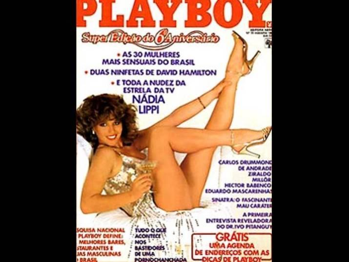 Nádia Lippi (1981)A atriz, mãe da ex-BBB Thalita Lippi, fe sucesso na época com capa de pernas para o ar, aos 25 anos