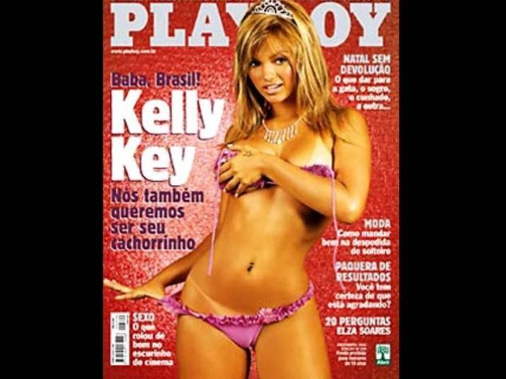 Kelly Key (2002)A gata fez sucesso com Baba Baby, casou com o Latino e posou para a Playboy. Ela tinha apenas 19 anos