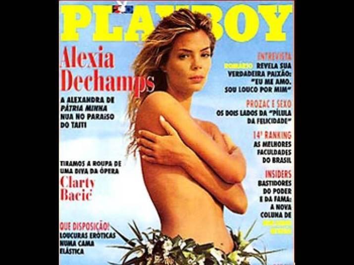 Alexia Dechamps (1995)Aos 31 anos, a modelo usou uma lingerie nada comum para estampar a capa da Playboy