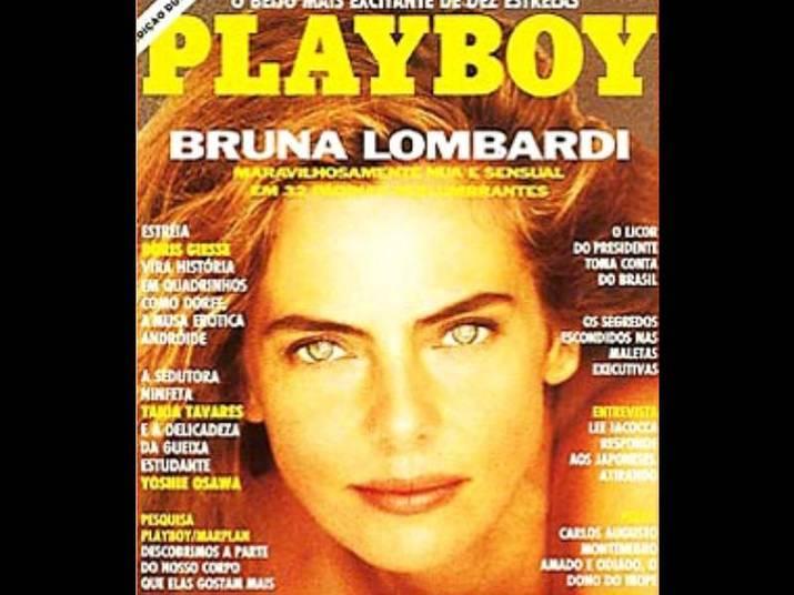 Bruna Lombardi (1991)Na época, foi considerado um dos ensaios mais bonitos da Playboy. Aos 39 anos, Bruna ganhou 32 páginas na revista