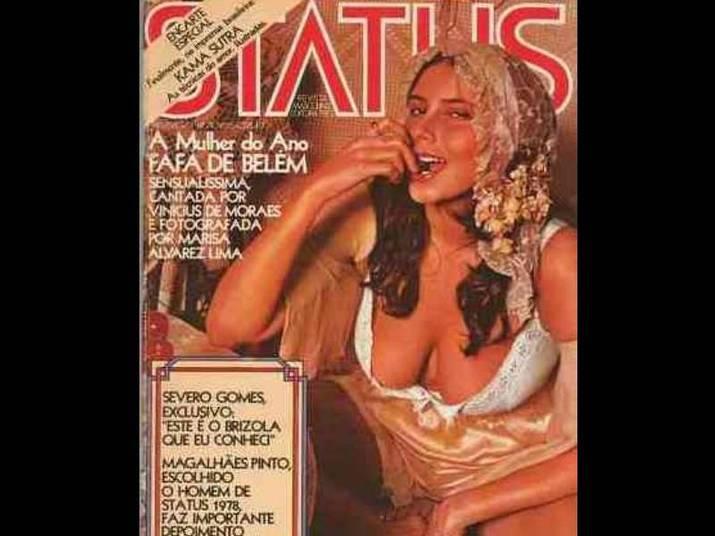 Fafá de Belém (1981)A cantora, conhecida pelos seios fartos, sensualizou na Status. Ela tinha apenas 25 anos