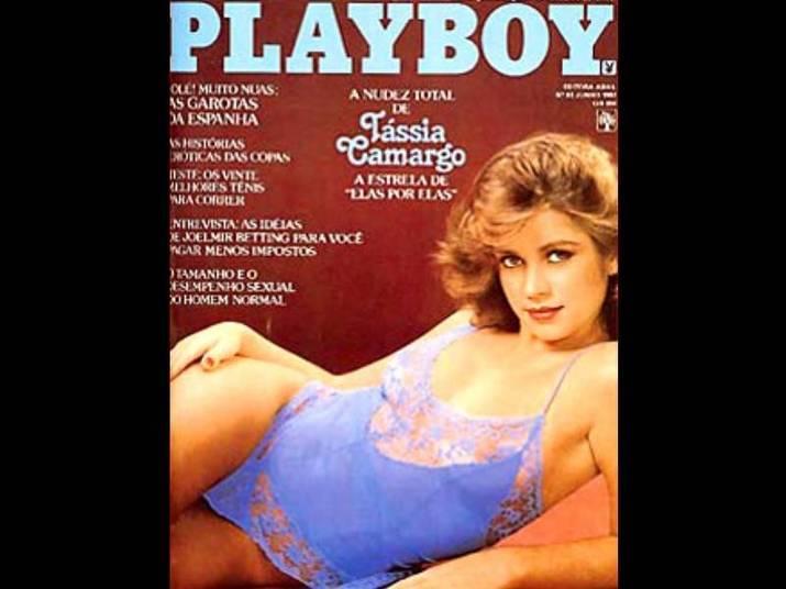 Tássia Camargo (1982, 1985 e 1989)A atriz, que foi a primeira apresentadora do Video Show, aproveitou a fama para fazer ensaios sensuais. No primeiro, tinha 21 anos
