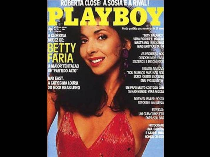 Betty Faria (1978 e 1984)A atriz posou duas vezes para a Playboy. No primeiro ensaio, tinha 37 anos