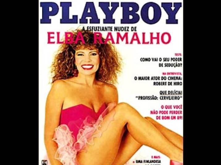 Elba Ramalho (1989)Aos 38 anos, toda de rosa, a cantora posou nua para a Playboy