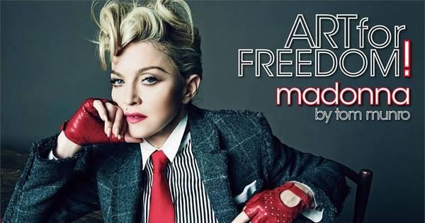 Cinquentona, Madonna faz topless em ensaio sensual para revista ...