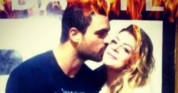 Gustavo Salyer comemora aniversário de namoro com Manoella Stoltz