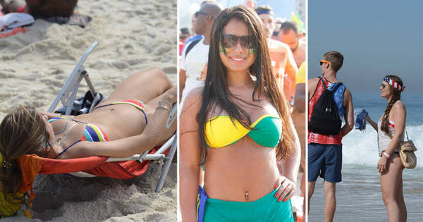 Capital da Copa: praia de Copacabana recebe musas do mundo ...