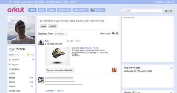 Google vai tirar o Orkut do ar no próximo mês de setembro - Notícias ...