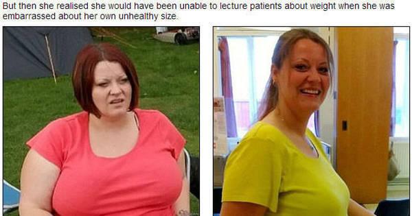 Mulher emagrece 63 kg em uma no para se tornar enfermeira e dar ...