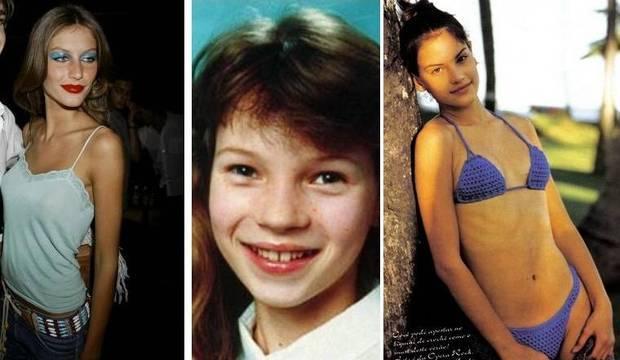 Descubra como eram as modelos de fama internacional antes da fama