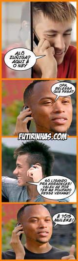 Neymar, por sua vez, agradeceu ao colombiano Camilo Zuniga pela joelhada nas costas que o tirou da Copa do Mundo