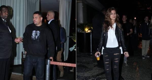Após boatos de separação, Ronaldo e Paula Morais curtem festa ...