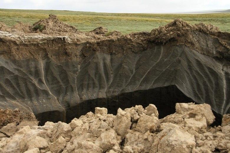 A primeira formação fica próximo a um campo de extração de gás em Bovanenkovo